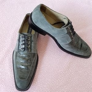 Urbano Italy Genuine Ostrich Oxford Derby Shoes